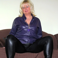 Schwarze Glanz-Leggins - Andrea46