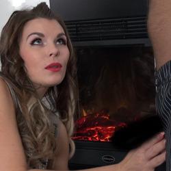 Romantischer Sex am Kamin - aische-pervers