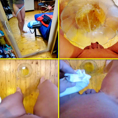 Glasschssel-Piss - selbst gefilmt - Pria_Hotlegs