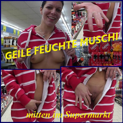 GEILE FEUCHTE MUSCHI mitten im Supermark - LunaSquirt