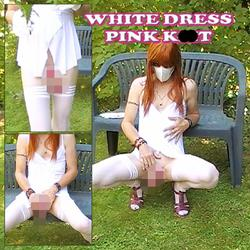 White dress - pink klit - Francine-Steffi
