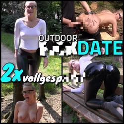 Outdoor FICK DATE - Wetlook Bitch 2x vol - Lara-CumKitten