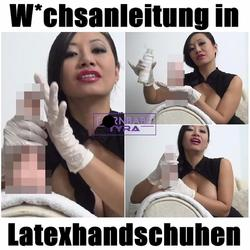 Wichsanleitung in Latexhandschuhen - PornbabeTYRA