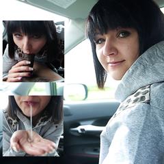 Blowjob im Auto und ein Mund voll Sperma - 1Mandala1