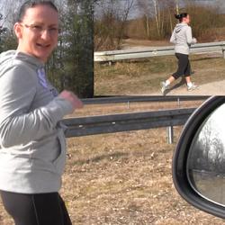 Perverser Spanner beim Joggen verfolgt!! - Studentin-Aneta