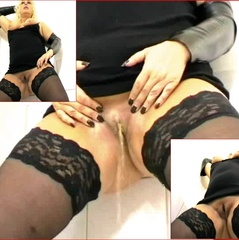 ICH PISS DIR IN NYLONS INS MAUL NS NATUR - Lady-Blue68
