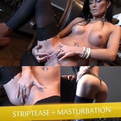 Striptease + Masturbation... - GeileAnne4U
