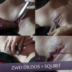 Zwei Dildos + squirt - GeileAnne4U